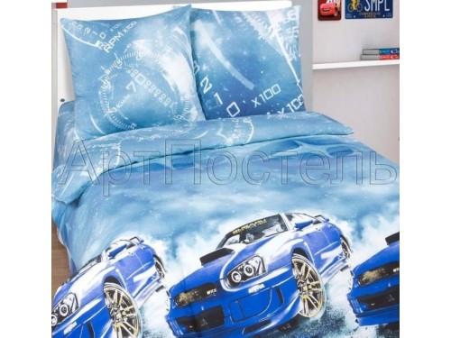 """Комплект белья подростковый поплин """"Форсаж (Subaru)"""" Форсаж (Subaru) от Царский Дом в интернет-магазине PannaTeks"""