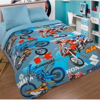 Детское постельное белье для мальчика поплин Мотогонки Мотокросс от Царский Дом в интернет-магазине PannaTeks