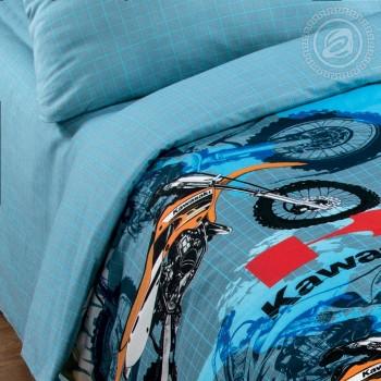 Детское постельное белье для мальчика поплин Мотогонки фото 2