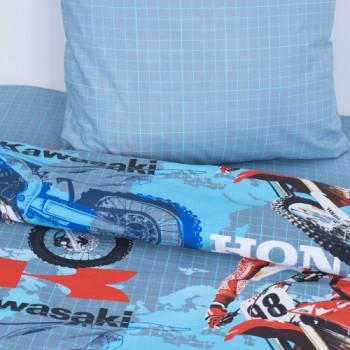 Детское постельное белье для мальчика поплин Мотогонки фото 1