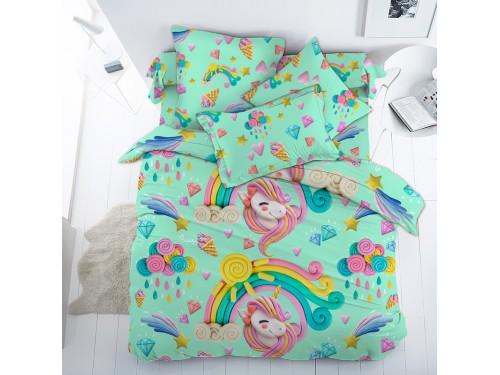 Детское постельное белье в кроватку поплин Пластилиновый мир (Единорожки) Пластилиновый мир  от Царский Дом в интернет-магазине PannaTeks