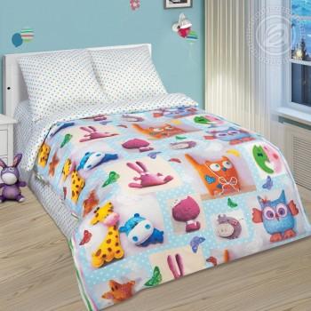 Детское постельное белье поплин Плюшевый мир