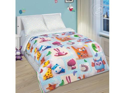 Детское постельное белье поплин Плюшевый мир Плюшевый мир от Царский Дом в интернет-магазине PannaTeks