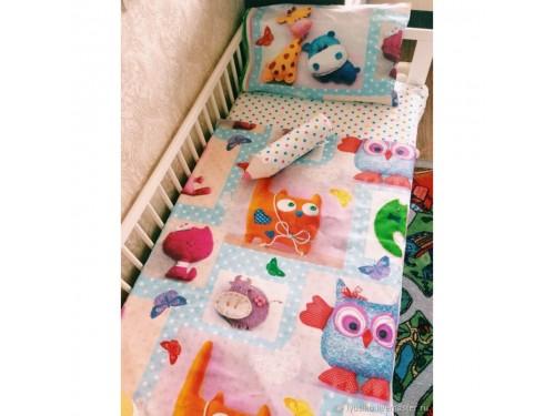 Детское постельное белье в кроватку поплин Плюшевый мир Плюшевый мир от Царский Дом в интернет-магазине PannaTeks