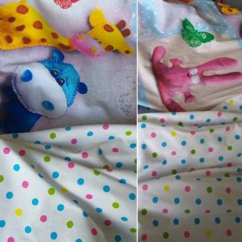 Детское постельное белье в кроватку поплин Плюшевый мир фото 2