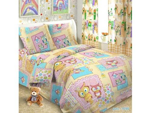 Детское постельное белье в кроватку поплин Совушки Совушки от Царский Дом в интернет-магазине PannaTeks