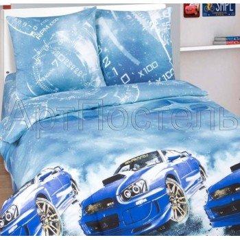 Детское постельное белье для мальчика поплин Форсаж (Subaru)