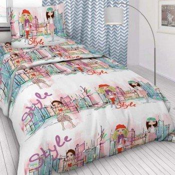 Детское постельное белье поплин Городские девчонки
