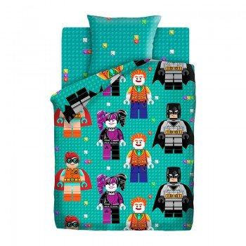 Детское постельное белье в кроватку поплин Лего БЭТМЕН Лего БЭТМЕН от Царский Дом в интернет-магазине PannaTeks