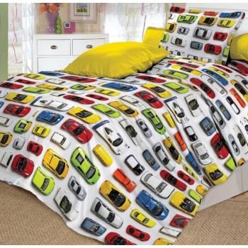 Детское постельное белье в кроватку поплин Модельки фото 2