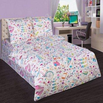 Детское постельное белье для девочки поплин Модные штучки