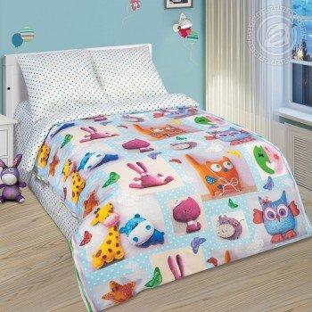 Детское постельное белье в кроватку поплин Плюшевый мир фото 1