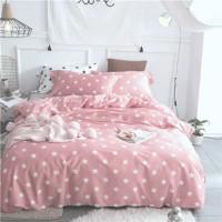 Детское постельное белье Звезды на Розовом ранфорс