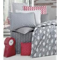 Детское постельное белье в кроватку ранфорс Тучки