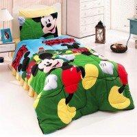 Детское постельное белье Микки Маус 3Д ранфорс люкс