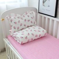 Детское постельное белье в кроватку сатин Мороженое розовое