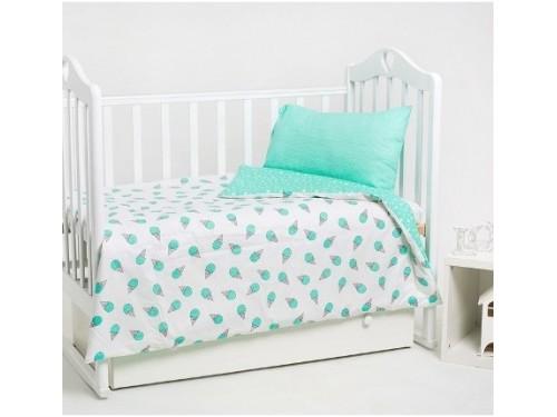 Детское постельное белье в кроватку сатин Мороженое мятное Мороженое мятное от Царский Дом в интернет-магазине PannaTeks