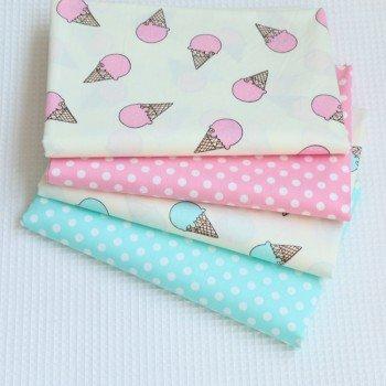 Детское постельное белье для девочки сатин Мороженое розовое фото 1