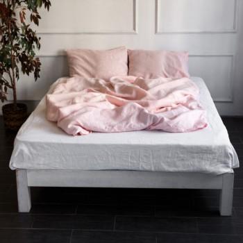 """Постельное белье лен """"Микс Розовый + Белый"""""""