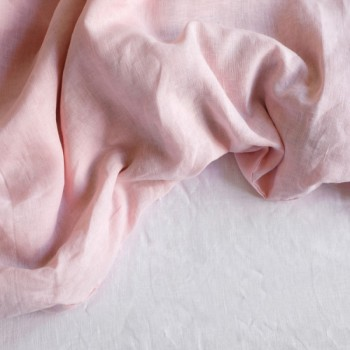 """Постельное белье лен """"Микс Розовый + Белый"""" фото 1"""