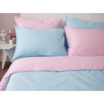 """Комплект белья """"Однотонный розовый + голубой"""" фото 1"""