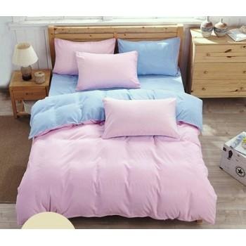 """Комплект белья """"Однотонный розовый + голубой"""" Микс розовый + голубой от Царский Дом в интернет-магазине PannaTeks"""