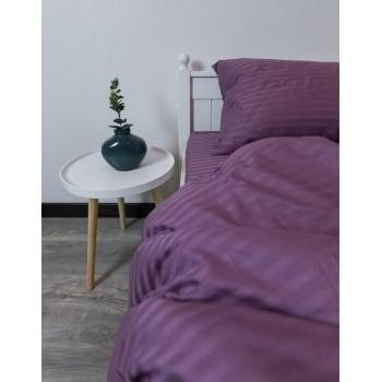Постельное белье страйп-сатин Глубокий фиолет