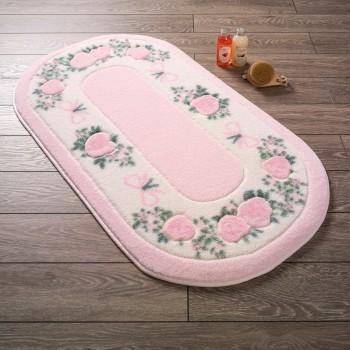 Коврик для ванной Rose Frame Pembe