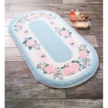 Коврик для ванной Rose Frame Mavi