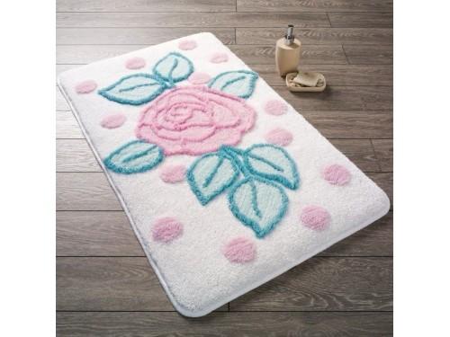 Коврик для ванной Confetti Biblos Karbeyaz 110083350 от Confetti в интернет-магазине PannaTeks