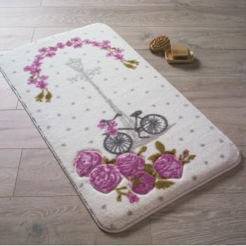 Коврик для ванной Vintage Bike D. Pink (K. Pembe)