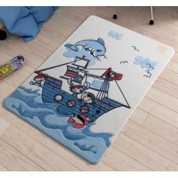 Коврик в детскую комнату Smiley Dolphin Blue