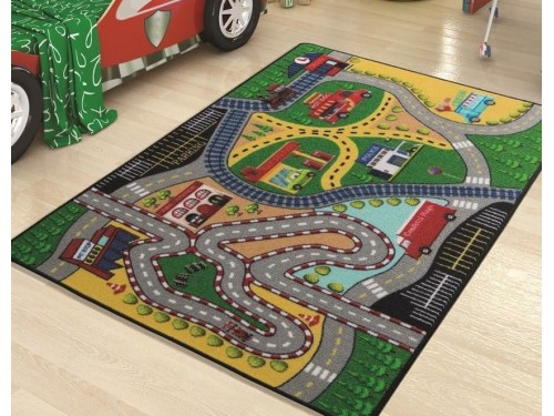 Детский коврик с дорогой Freeway Yesil Турция 110083654 от Confetti в интернет-магазине PannaTeks