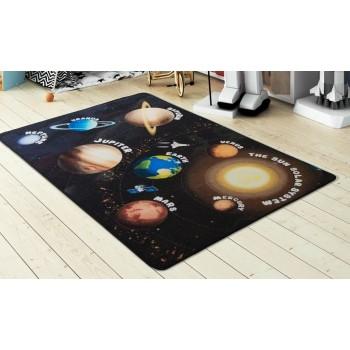 Детский коврик на пол Confetti Planets Siyah Турция