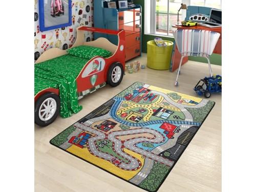 Коврик в детскую комнату Confetti Race Yesil 110083662 от Confetti в интернет-магазине PannaTeks