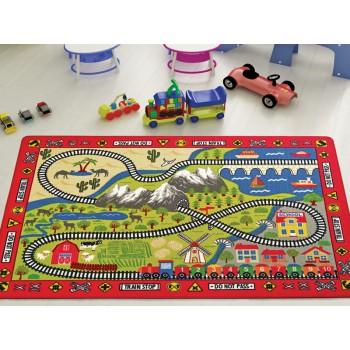 Коврик в детскую комнату Confetti Railway Kirmizi