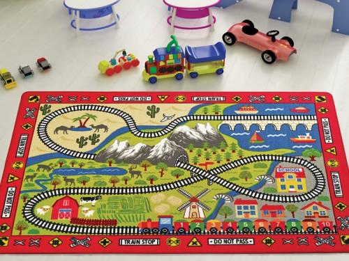 Детский коврик с дорогой Confetti Railway Kirmizi Турция 110083663 от Confetti в интернет-магазине PannaTeks