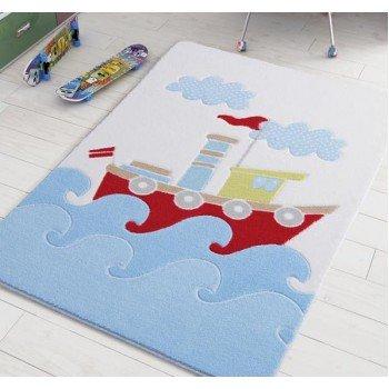 Детский коврик для мальчика Baby Ship Blue Турция