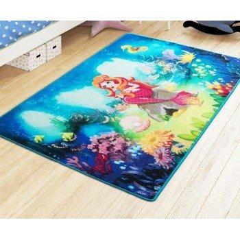 Турецкий коврик на пол для детей Mermaid Mavi