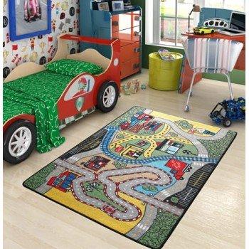 Детский коврик с дорогой для машинок Confetti Race Yesil