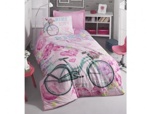 """Комплект подростковый ранфорс """"BIKE PEMBE"""" 08007772 от Cotton box в интернет-магазине PannaTeks"""