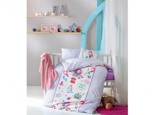"""Постельное белье в кроватку ранфорс """"Deniz Kizi Lila"""" 08007787 от Cotton box в интернет-магазине PannaTeks"""