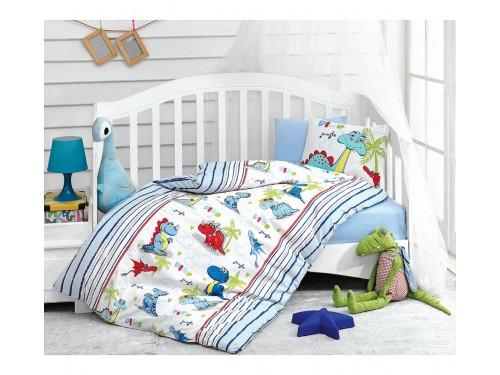 """Постельное белье в кроватку """"Dino Mavi"""" 08007756 от Cotton box в интернет-магазине PannaTeks"""