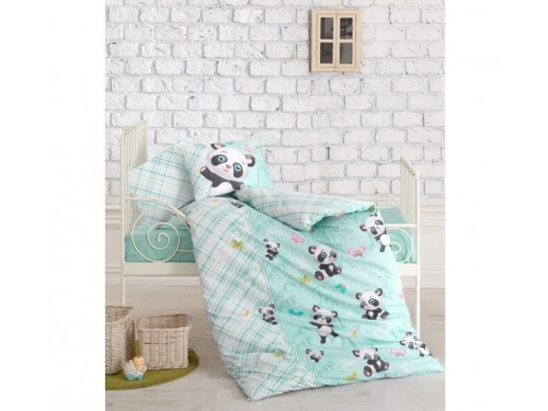 """Постельное белье в кроватку ранфорс """"Panda Mint"""" 08007777 от Cotton box в интернет-магазине PannaTeks"""