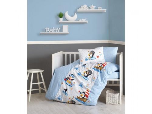 """Постельное белье в кроватку """"Penguen Mavi"""" 08007796 от Cotton box в интернет-магазине PannaTeks"""