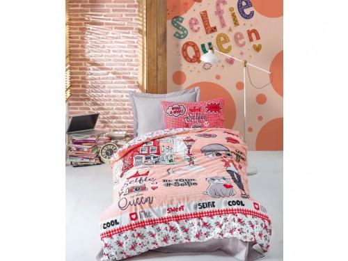 """Комплект подростковый ранфорс """"SELFIE KIRMIZI"""" 08007792 от Cotton box в интернет-магазине PannaTeks"""