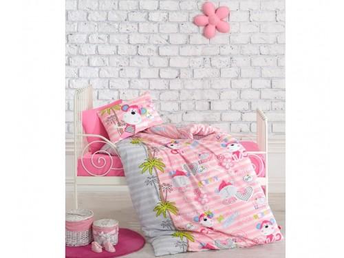 """Комплект в кроватку """"Sevimli Maymunlar Pembe"""" 08007779 от Cotton box в интернет-магазине PannaTeks"""