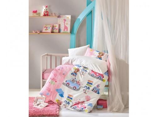 """Комплект в кроватку ранфорс """"Sevimli Seyahat Pembe"""" 08007786 от Cotton box в интернет-магазине PannaTeks"""