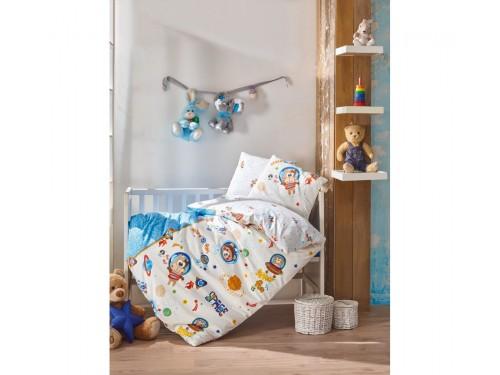 """Постельное белье в кроватку """"Uzay Oyunu Mavi"""" 08007789 от Cotton box в интернет-магазине PannaTeks"""