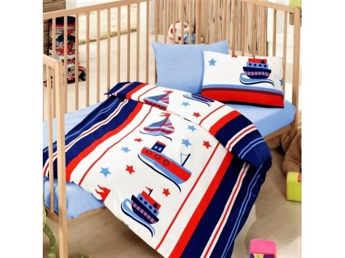 Детское постельное белье в кроватку Denizci Mavi ранфорс Cotton Box 08007743 от Cotton box в интернет-магазине PannaTeks